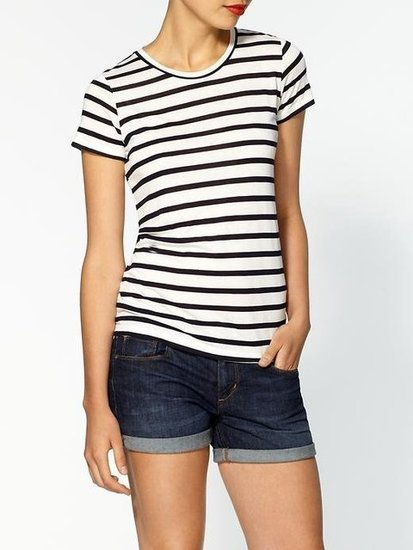 This is the ultimate in perfect tees. From the fit to the classic navy-and-white stripes, this tee will round out your Summer wardrobe in one easy step.  Theory Rodiona Striped Jersey Tee ($95)