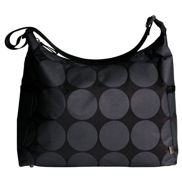 OiOi Charcoal Dot Hobo Diaper Bag ($100)