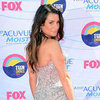 Lea Michele in Silver Versace Dress Pictures at 2012 Teen Choice Awards