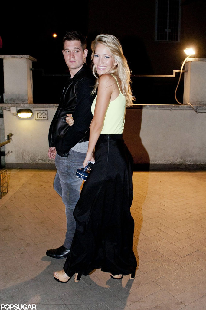 Michael Bublé and Luisana Lopilato looked cute together while out in Rome.