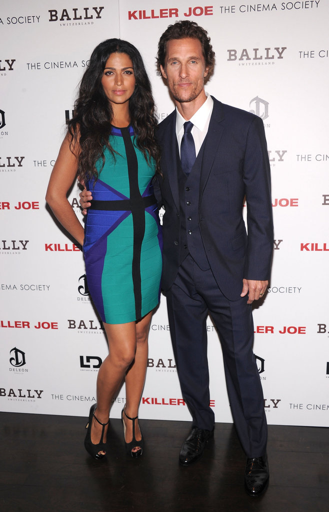 Matthew McConaughey had wife Camila Alves on his hip for a screening of Killer Joe.