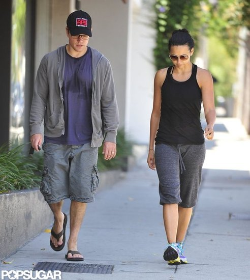 Sweaty Matt Damon Does Pilates With Luciana