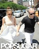 Jennifer Lopez and Casper Smart held hands for lunch together in NYC.