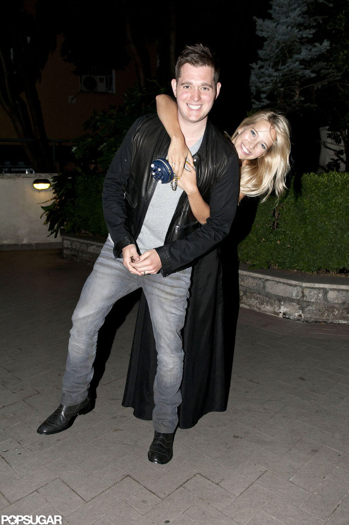 Michael Bublé and his wife, Luisana Lopilato, went out for a romantic date while they were in Rome in July 2012.