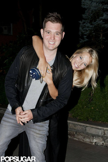 Michael Bublé and Luisana Lopilato were all smiles as they spent an evening together in Rome.