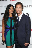 Matthew McConaughey and Camila Alves smiled at a screening of Killer Joe.