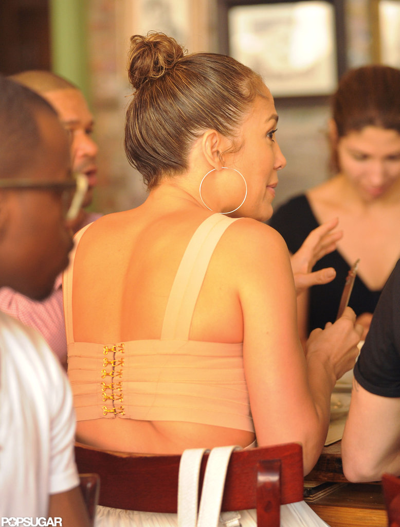 Jennifer Lopez ate lunch in NYC.