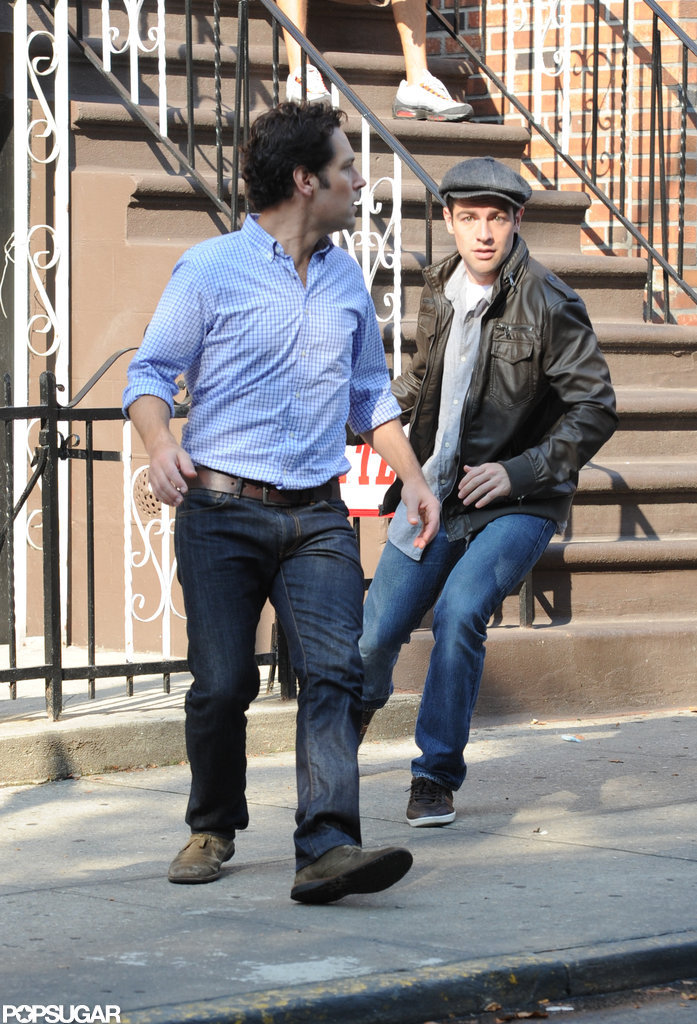 Paul Rudd on set in NYC.