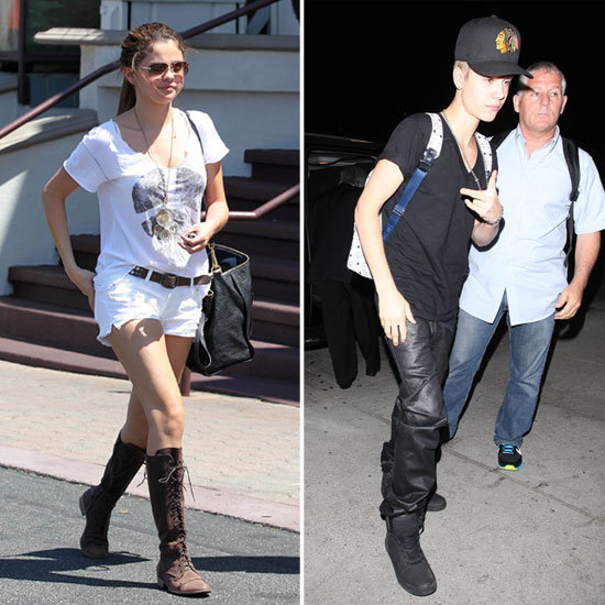 Justin Bieber and Selena Gomez Meet For a Movie Date