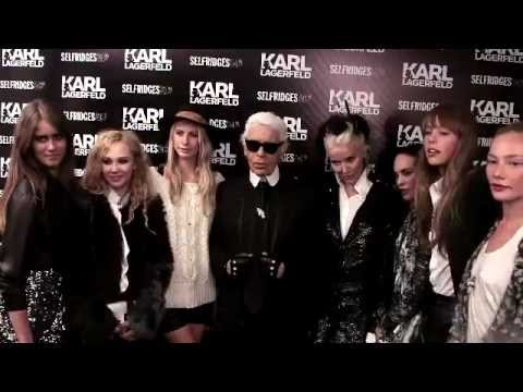 Karl Lagerfeld Olympics Collection Party at Selfridges Video
