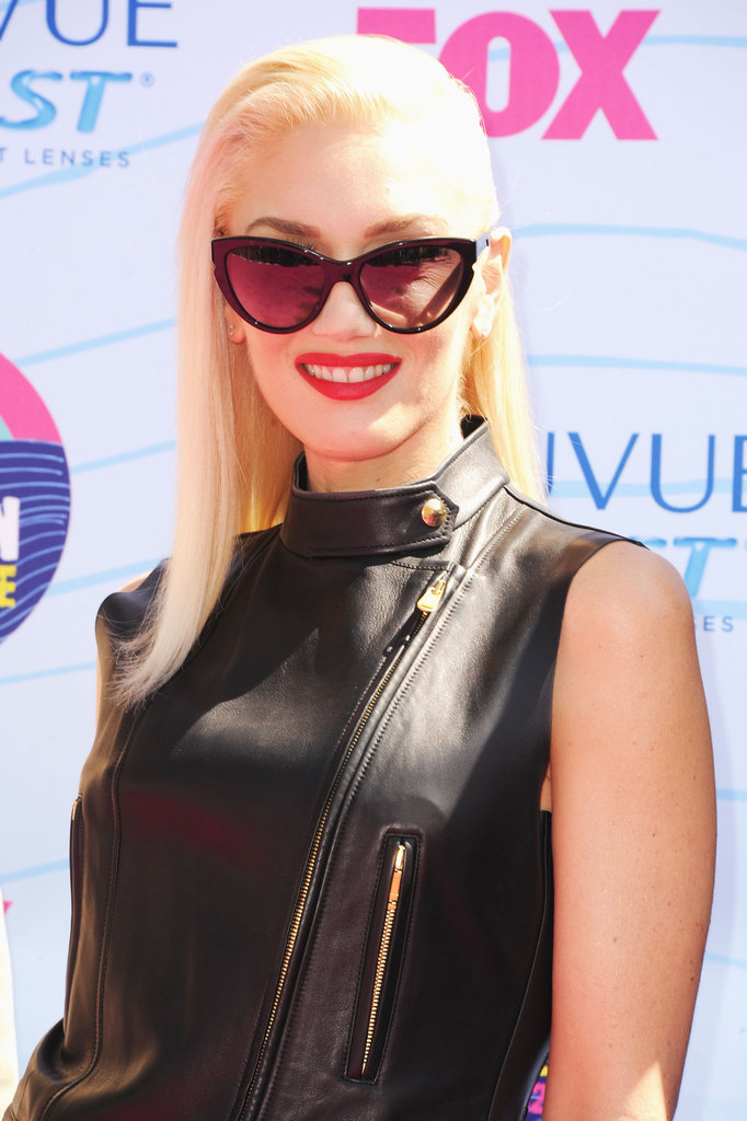 At the 2012 Teen Choice Awards, Gwen went for a dramatic cat-eye look in these Stella McCartney cat-eye sunglasses ($265).