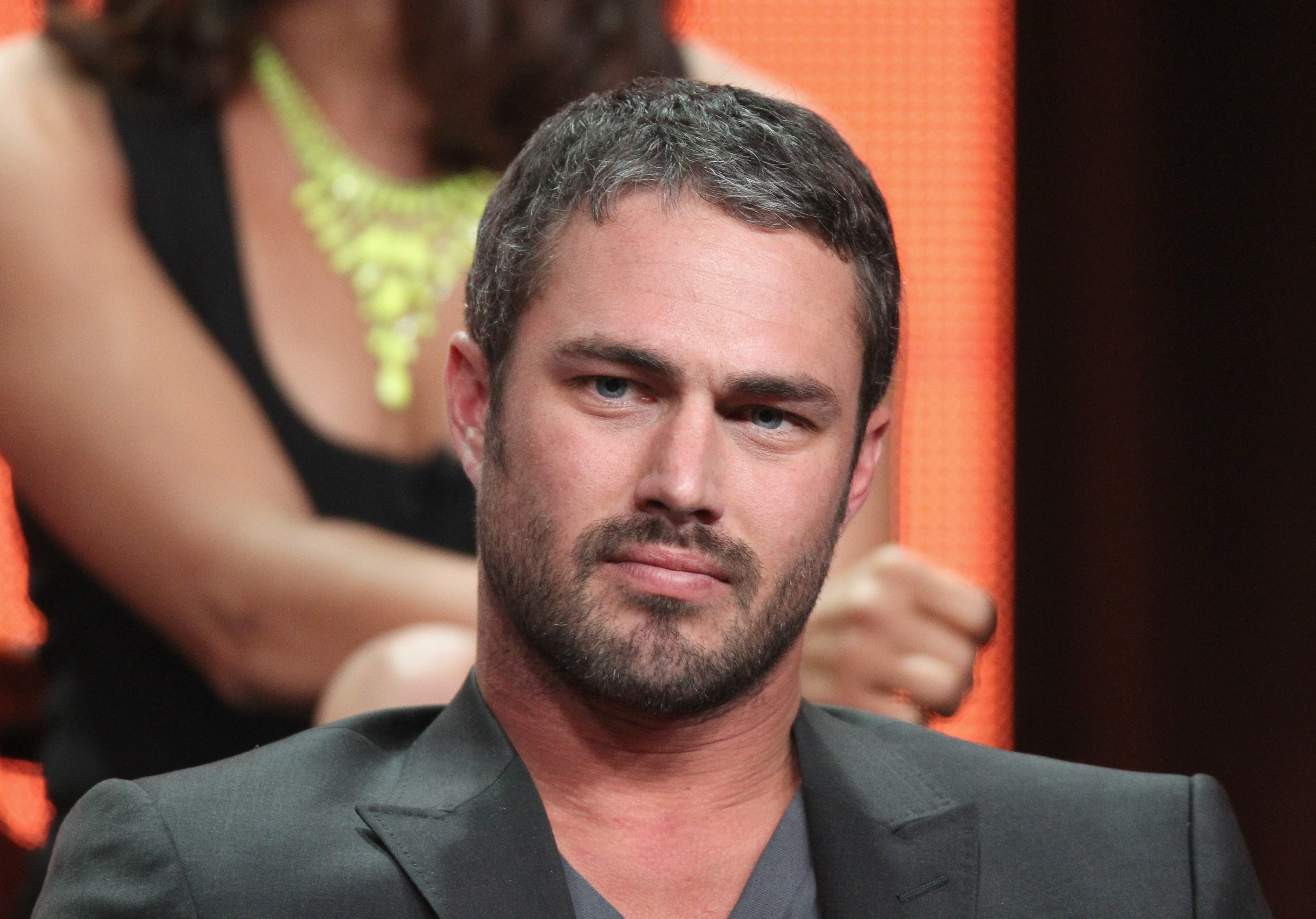 Former The Vampire Diaries actor Taylor Kinney joined the Chicago Fire cast onstage at the show's TCA panel.