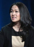 Actress Suzy Nakamura spoke onstage at Go On's TCA panel.