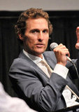 Matthew McConaughey took the mic at the Killer Joe screening in NYC.