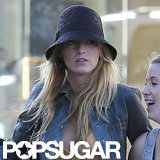 Blake Lively kept a low profile in a dark hat.