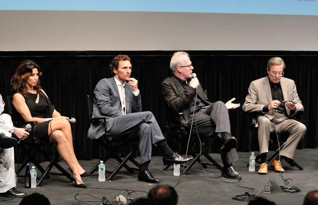 Matthew McConaughey talked with Gina Gershon, William Friedkin, and Tracy Letts at the Killer Joe screening in NYC.