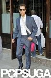 Matthew McConaughey walked out of his NYC hotel.