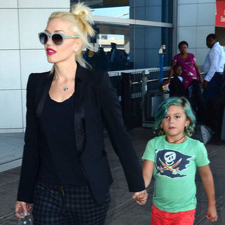 Gwen Stefani With Kingston at the Airport