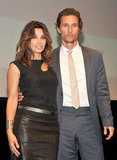 Matthew McConaughey and Gina Gershon linked up at the Killer Joe screening in NYC.