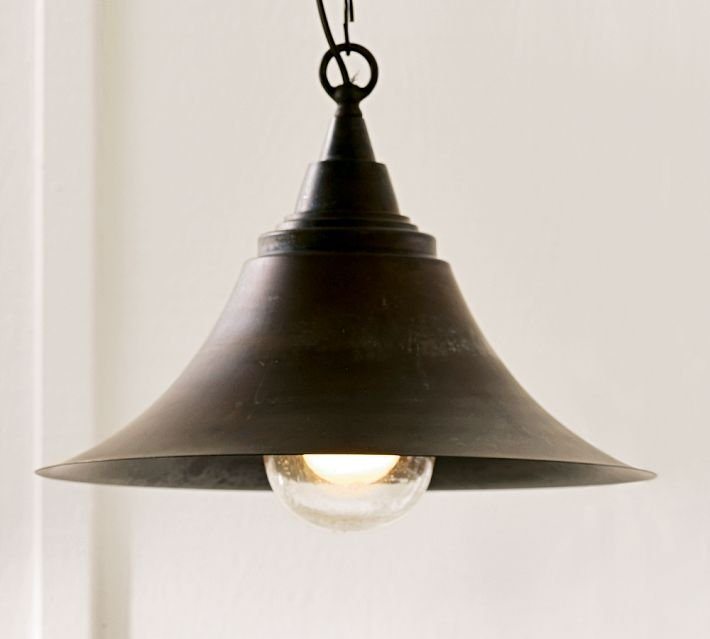 This Barnard Pendant ($219) is inspired by farmhouse lighting and made of solid brass with a copper finish.