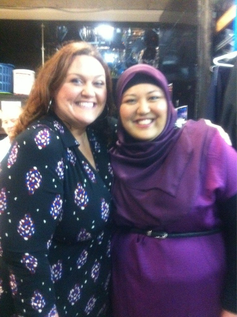 Amina met Chrissie Swan. Source: Twitter user AminaElshafei
