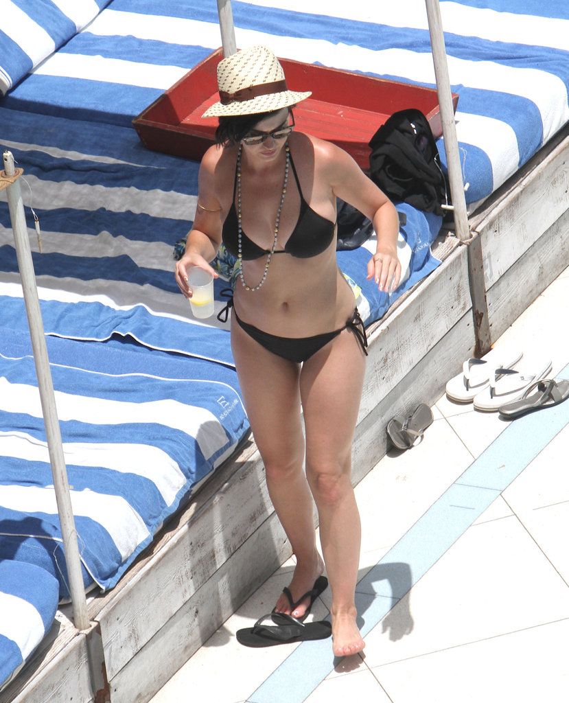 Katy Perry showed off her bikini body in Miami in July 2012.