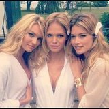 Doutzen Kroes was on location for a Victoria's Secret commercial with Candice Swanepoel and Erin Heatherton. Source: Instagram user doutzenkroes1