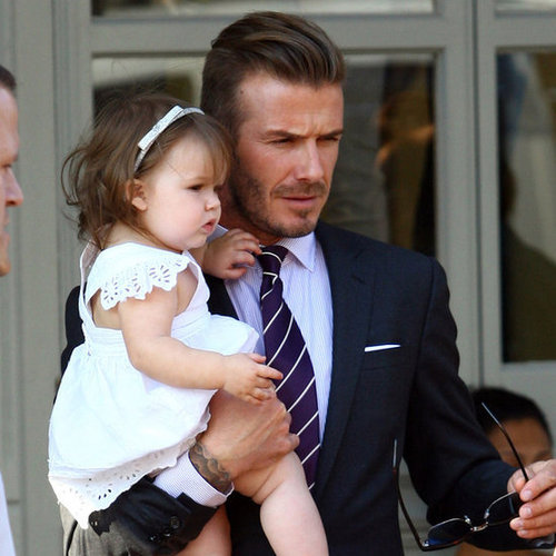 David and Victoria Beckham Lunch With Harper