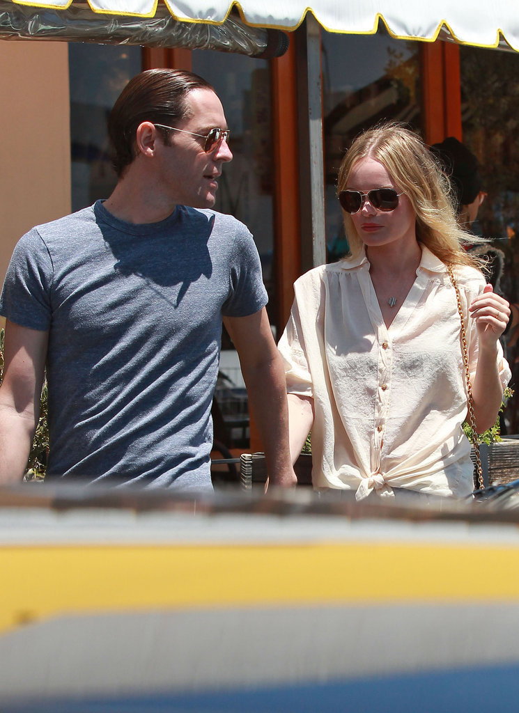 Kate Bosworth and Michael Polish picked up lunch in LA.