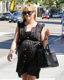 Reese Witherspoon wore a black bag and dress for lunch in LA.