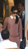 Victoria Beckham walked out of 202 restaurant in London.