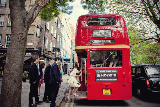 Arrival by Double-Decker Bus