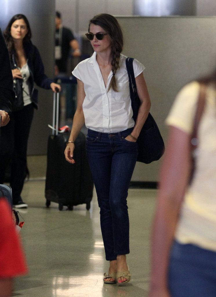 Keri Russell walked through LAX.