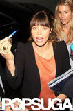 Jessica Biel signed autographs for her fans.