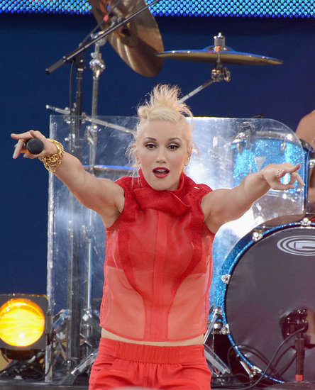Gwen Stefani performed on Good Morning America with her band, No Doubt, in NYC.