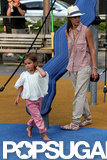 Honor Warren ran around the playground barefoot in NYC with mom Jessica Alba.