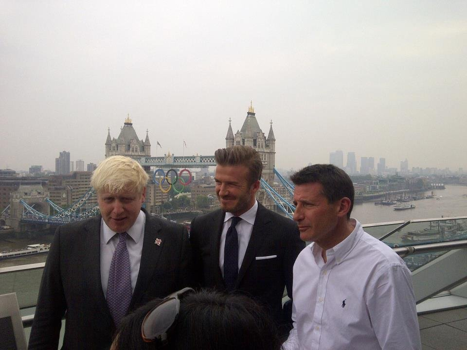 David Beckham posed for a photo at London's City Hall. Source: Facebook user David Beckham