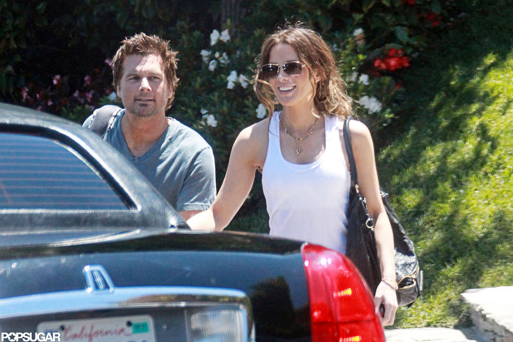 Kate Beckinsale and Len Wiseman on her 39th birthday.