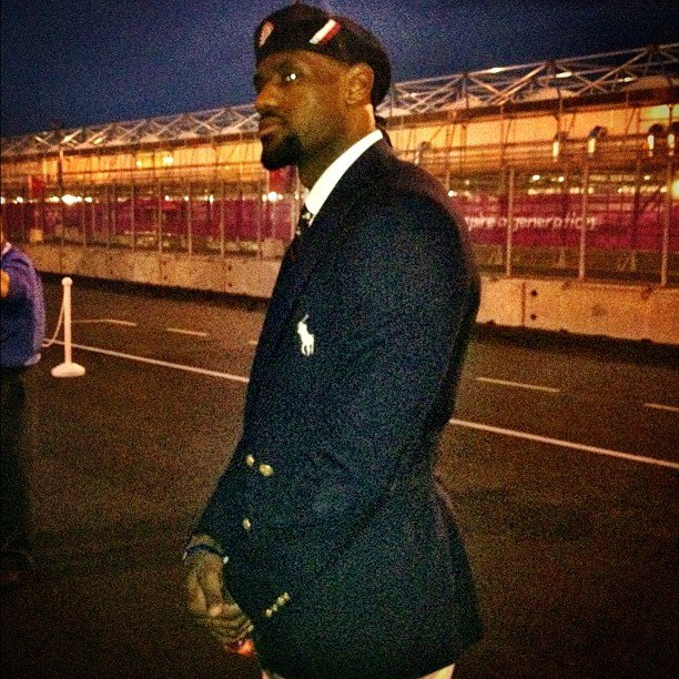 LeBron James looked handsome in his USA uniform. Source: Instagram User kingjames