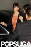 Jessica Biel got into the car in LA.