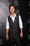 Matthew McConaughey was in attendance to support wife Camila Alves at her event in NYC.