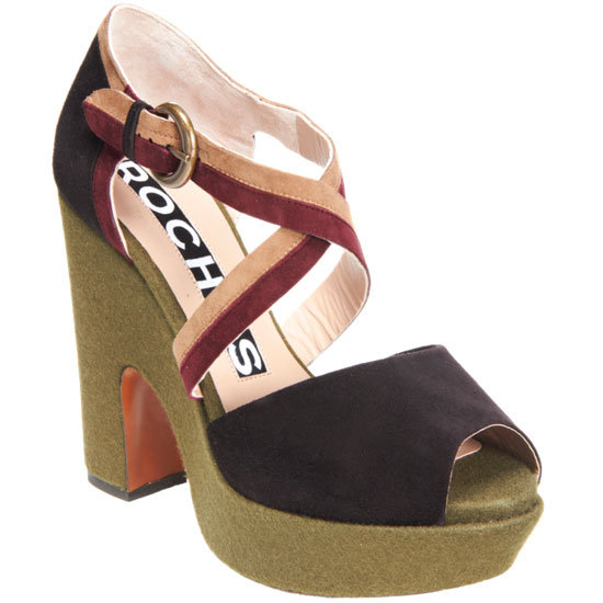 The Autumnal tone and quirky shape just beg to be worn with tights. Rochas Crisscross Platform Sandal ($950)