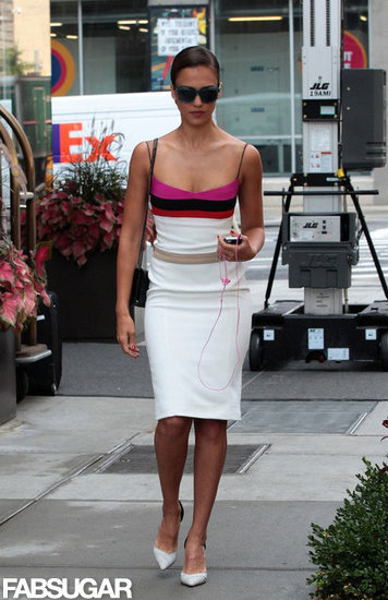 Jessica Alba slipped into a sexy (but not too sexy) Narciso Rodriguez sheath for a luncheon at Barneys.