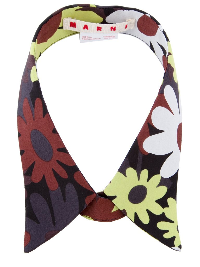 We'd wear this retro floral collar with a striped tee and trousers. Marni Floral Collar ($98, originally $139)