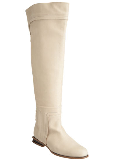 We're intrigued by this tall white boot, which instantly reminds us of a jet-set vacation to snowy Aspen. Maiyet Pull-On Knee Boot ($1,195)