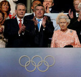 The queen watched the opening ceremony.