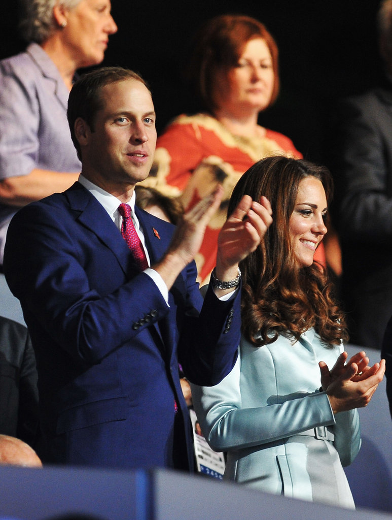 Prince William and his wife, Kate Middleton, enjoyed themselves during the spectacular event.