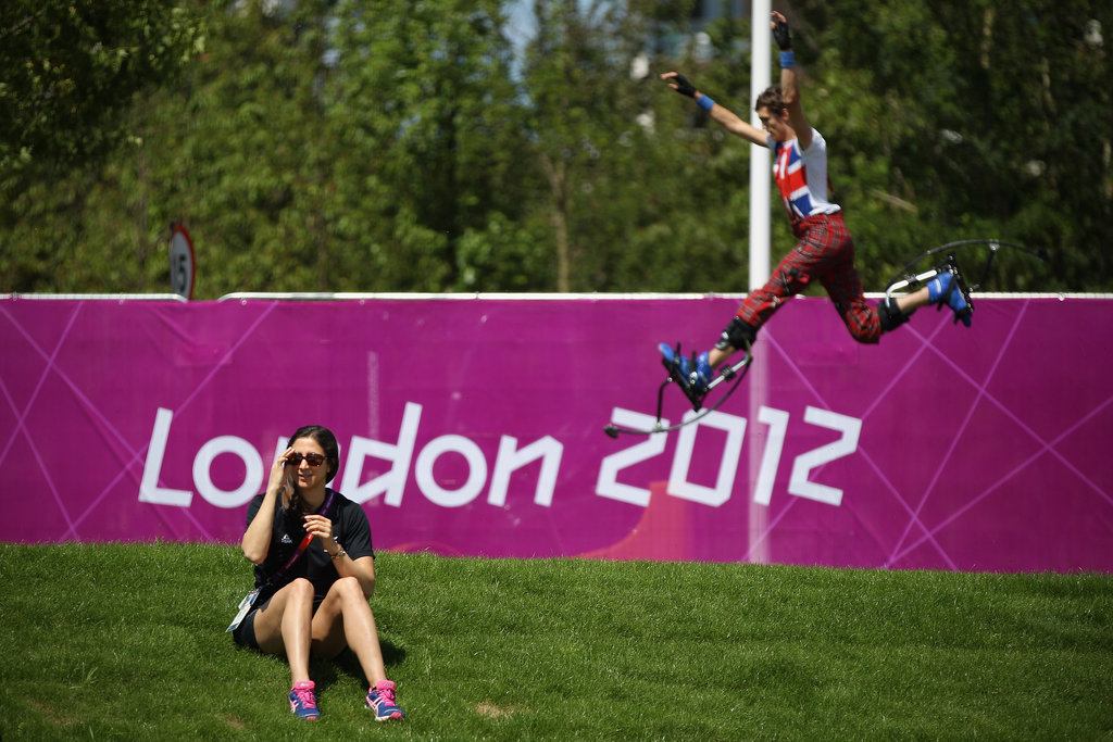 A performer from the National Youth Theatre of Great Britain practiced ahead of the welcoming ceremony at the Olympic Village.