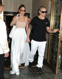Casper Smart took Jennifer Lopez to birthday lunch in NYC on July 24.