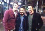 "2010 MasterChef winner Adam Liaw got caught up in a ""Bendy"" sandwich. Source: Twitter user adamliaw"